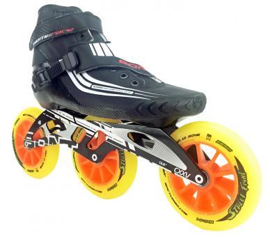 Bont Semi Race Skate Schwarz mit 125mm